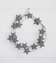 Zinc Star Wreath | Garland