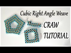 CRAW bead tutorial - Cubic Right Angle Weave tutorial - CRAW open shape tutorial with beads - YouTube