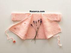 KİMONO ÖRGÜ BEBEK ZIBIN HIRKASI AÇIKLAMALI   Nazarca.com Baby Cardigan, Baby Knitting Patterns, Kimono, Reusable Tote Bags, Model, Fashion, Tricot, Amigurumi, Moda
