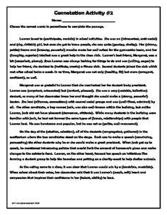 Denotation vs connotation essay checker