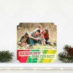 Brightest Bunch - Flat Holiday Photo Cards by Hello Little One for Tiny Prints in Bright Red