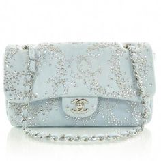 CHANEL Denim Quilted Swarovski Crystal Flap #Chanelhandbags #swarovskicrystalhandbags Swarovski Outlet, Gucci Handbags, Gucci Purses, Purses And Handbags, Denim Handbags, Quilted Handbags, Coco Chanel, Chanel Bags, Chanel Purse