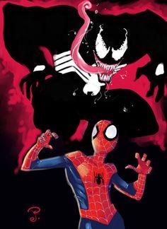 Spidey and Venom by ~jFury