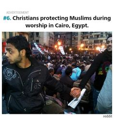 Christians protecting