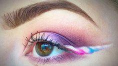 L'eye-liner licorne, la tendance maquillage féérique
