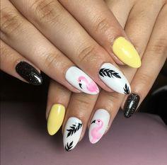 #flamingo#summer#nails