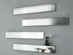 Mensola bagno in acciaio LIGHT By RIFRA