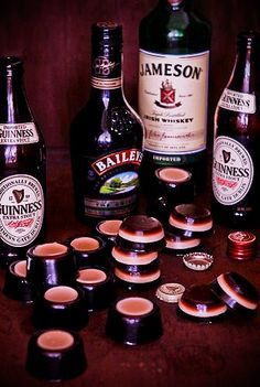 Irish Car Bomb Jello shots!!!    #jello