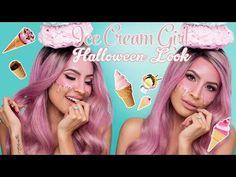 ICE CREAM GIRL HALLOWEEN LOOK | DESI PERKINS