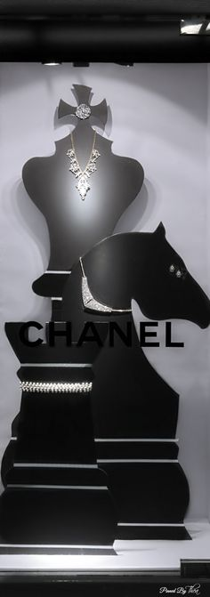 Chanel ● window display.  Via @theatoria. #Chanel #windowdisplay