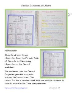 6th 8th grade science learning activity periodic table science interactive notebook atoms and the periodic table of elements teacherspayteachers urtaz Image collections