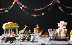 Boy circus-themed birthday party