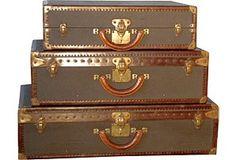 Antique vintage trunks