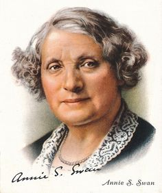 Annie S Swan CBE Scottish journalist novelist story writer and public speaker 1937 Cigarette card 35 of 40 from Famous British Authors published by...