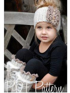 Crochet PATTERN-The Rainya Boot cuff/Warmer Set Toddler