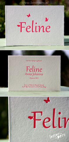 letterpers_letterpress_geboortekaartje_Feline_vlinders