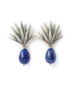 Arete agave y lapislázuli
