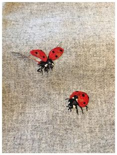 Articles similaires à Ladybird/coccinelle Harris Tweed coussin sur Etsy Hand Embroidery Art, Creative Embroidery, Embroidery Thread, Cross Stitch Embroidery, Embroidery Patterns, Diy Broderie, Etsy Fabric, Embroidered Cushions, Harris Tweed