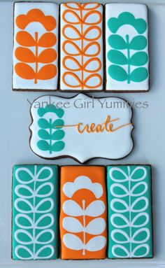 Create in Orange and Turquoise