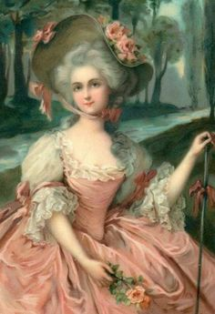I love the fluffiness of this, but something tells me this was painted in the 19th c.