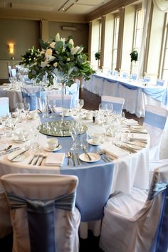 Wedding Theme Ideas - Maybe you believe your dress, menu, imaginative pursuits or unbelievable venue is likely to make your quinceanera stick out. Wedding Decorations Uk, Blue Wedding Centerpieces, Sweet 16 Decorations, Quince Decorations, Quinceanera Decorations, Wedding Themes, Wedding Colors, Baby Blue Wedding Theme, Quinceanera Party