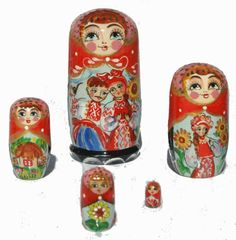 Amazon.com - Boyfriends Grooms Matryoshka Babushka Nesting Stacking Traditional Russian Wooden Doll in Doll Hand Carved of Wood Hand Painted...