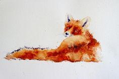 Watercolor Animals, Watercolour, Free Printable Art, Illustration Art, Illustrations, Wildlife, Fox, Happy Tuesday, Twitter