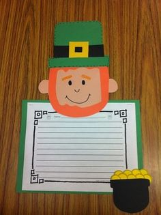 Adorable St. Patty's Day craftivity and common core aligned writing prompts $