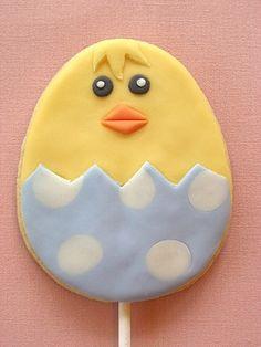 Chick Sugar Cookie Pop