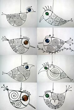 Wire Art Sculpture Kids Projects Wire sculpture is an easy art project for kids that introduces the 800 x 536 · 262 kB · png Bicycle Kids Craft Wire Sculptures 500 x 430 · 30 kB · jpeg. Wire Crafts, Diy And Crafts, Arts And Crafts, Sculptures Sur Fil, Metal Sculptures, Sculpture Art, Stylo 3d, Ideias Diy, Beads And Wire