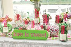 candy bar. double as party favors for guests. definitely a necessity.