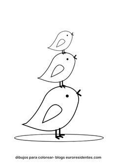 Dibujos para Colorear: Colorear dibujos de animales. Pollitos