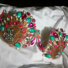 Client requested Pink , Teal & gold for Miami Carnival #gingerwirebras #miamicarnival #samba