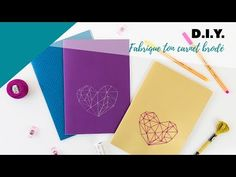 { DIY Couture } Fabrique ton carnet brodé - YouTube Diy Couture, Diy Origami, Notebook, Notebooks, Embroidery, Exercise Book, The Notebook, Journals