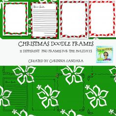Christmas Doodle Frames product from Surfin-Clipart on TeachersNotebook.com