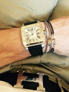 Cartier Santos 100 XL Cartier Santos 100 Xl, Black Rolex, Cartier Watches, Dapper, Watches For Men, Passion, Style Inspiration, Jewels, Gift Ideas