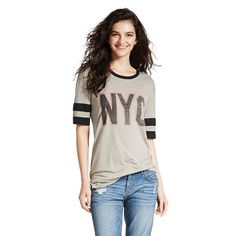 NYC  Varsity Graphic Tee Oatmeal Heather - Jerry Leigh