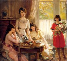 Tea Time by Albert Lynch, cir. 1890