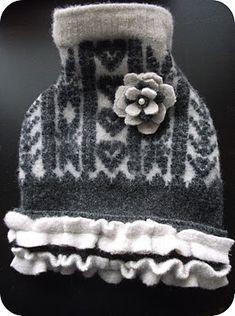 Embellished Wool Doggie Sweater Dress- A Tutorial