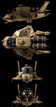 Shuttle Raptor from Battlestar Galactica