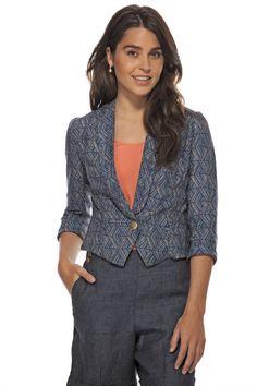 Veston de lin imprimé | Printed Linen Jacket TRISTAN 2014 www.tristanstyle.com