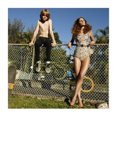 Cameron Russell stars in The Wonder Years (title translation) for Vogue España April Photographed by Greg Kadel and styled by Havana Laffitte. Cameron Russell, Greg Kadel, Photoshoot Inspiration, Style Inspiration, Kids Fashion, Fashion Show, Old Hollywood Style, Vogue Spain, Best Swimsuits