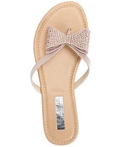 INC International Concepts Women's Maey Bow Thong Sandals - INC International Concepts - Shoes - Macy's