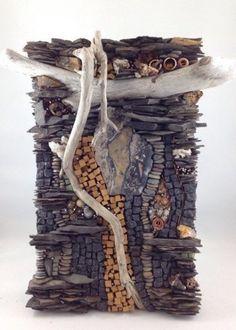 Karen Klassen (Edmonton, AB) is a visual mixed media artist creating wall art & pocket art mosaics using organic and exotic materials from around the world.