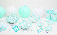 Nuestra nueva gama para decorar fiestas, bautizos, Baby Shower es ideal, en tonos azules y rosas Babyshower, Baptisms, Balloons, Pendants, Roses, Blue Nails, Baby Sprinkle Shower, Baby Sprinkle, Baby Shower