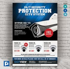 This CCTV Package Promotional Flyer Design has been develop to boost your marketing campaign. Flyer Design Templates, Psd Templates, Promo Flyer, Cctv Surveillance, Camera Shop, Promotional Flyers, Marketing Opportunities, Packaging, Social Media