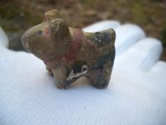 """Antique Hariko doll dog clay small cute Japan 16g H/1.06""""   This is my clay doll page. http://stores.ebay.com/ganbaroujapanthanks/dolls-/_i.html?_fsub=4694380017"""