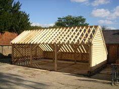 Special offers on oak framed buildings such as extensions, garages, car ports and other oak framed buildings plus prices for extras such as assembly. Carport Sheds, Carport Plans, Carport Garage, Oak Framed Buildings, Timber Buildings, Garage Workshop Plans, Garage Plans, Shed Design, Garage Design
