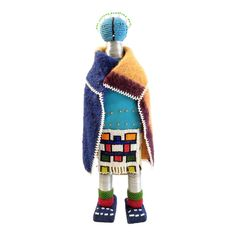 Shop Chairish, the design insider's source for the very best in vintage and contemporary furniture, decor and art. 3d Character, Character Design, African Beads, Painting Patterns, 1950s Fashion, Geometric Shapes, House Colors, Textile Art, Wool Felt