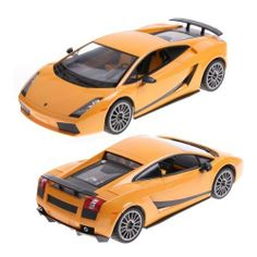 Yellow Rastar 1:14 Lamborghini Gallardo Car Model with Remote Control by Rastar. $32.99. Easy to control, full function radio control. It can be driven in different direction. Functions: forward, reverse, turn left, turn right. Real working front headlights & rear lights. It is packed by a nice display case. It is perfect for collector's display and also can be used as a toy or gift.  Specifications: Car model: Lamborghini Gallardo Color: Yellow Scale: 1:14 Material: Safety plast...